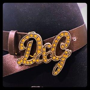 Dolce and Gabbana bronze belt